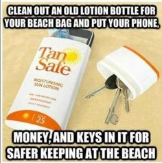 Now your phone, keys etc can be safe while you are at the beach. Or any other place.