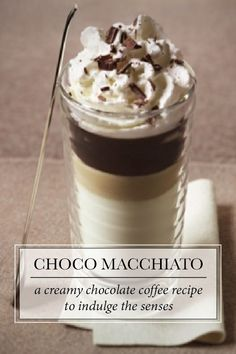 Choco Macchiato | Take your taste buds on a journey through the woody notes of Fortissio Lungo Grand Cru, sweet morsels of decadent chocolate and silky chantilly cream.