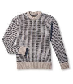 About as New England as it gets, the Matinicus Rock Sweater from LL Bean's Signature line is manly and warm without suggesting you work on the docks. -- Aaron Britt, Style contributor