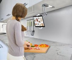CTA Digital 2-in-1 Kitchen Mount Stand for iPad Air, iPad mini, Surface, & Other 7-10 Inch Tablets (PAD-KMS)