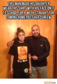 Teaching your teenage daughter a lesson