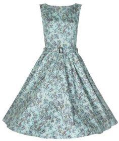 Amazon.com: Lindy Bop Women's 'Audrey' Classy Floral Print Hepburn Style Vintage 1950's Dres: Clothing