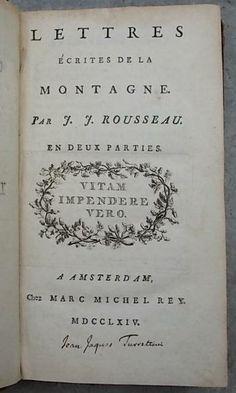 Rousseau 1764