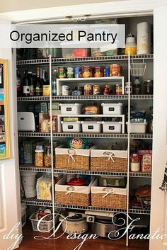 Arrange Pantry Items in Neat 'n' Tidy Baskets. | Community Post: 19 Insanely Clever Organizing Hacks