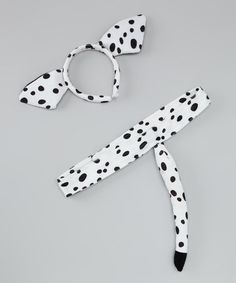 Take a look at this Black & White Dalmatian Ear Headband & Tail by Story Book Wishes on #zulily today!