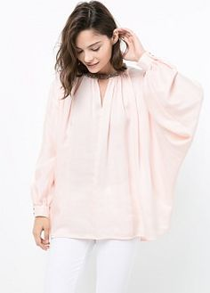 Chiffon layer top - T-shirts and tops for Women | MANGO