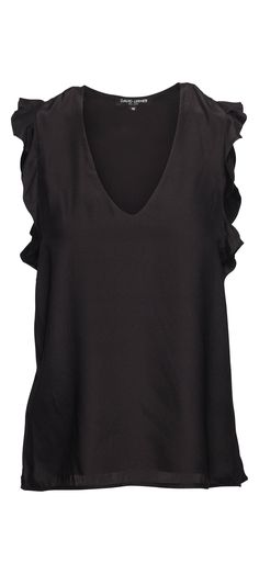 David Lerner Sienna Ruffle Top in Black / Manage Products / Catalog / Magento Admin