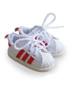 red shell toes. :)