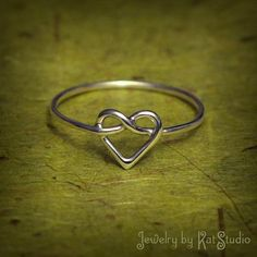 Infinity heart ring. simple yet cute