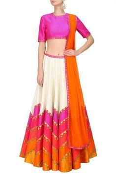 Simple#color full#lehenga www.shopzters.com