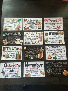 12 months of dates! Great for anniversary or birthday gift (Relationship Ideas)