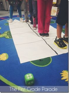 Life Sized Subtraction.  Great blog post by The First Grade Parade!