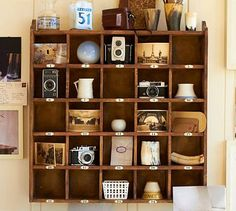 antique camera display