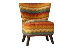 Barnes Chair, Red Zig Zag on OneKingsLane.com