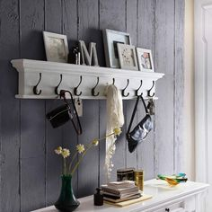 Shop Hygge Home's range of assembled wooden & rattan furniture. Specializing in white painted indoor furniture. Classic designs for each room in your home Farm Style Bathrooms, White Coat Rack, Entryway Shelf, Foyer, Hygge Home, Wall Mounted Coat Rack, Coat Rack Shelf, Small Shelves, Rustic White