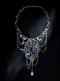 Jack du Rose; Spider Web Diamond Necklace