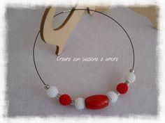 Collana girocollo ad uncinetto by https://www.facebook.com/creareconpassioneeamore/ … … … … … … … … … … #crochet #handmade #jewelry #necklace