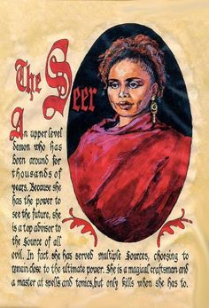 "Book of Shadows:  ""The Seer.""  She stole Phoebe's baby and died because  of it."