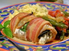 Creamy Stuffed Chicken Wrapped in Applewood Smoked Bacon #RSC