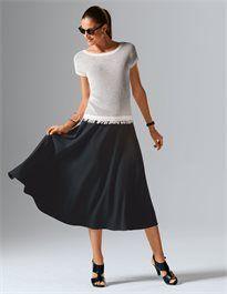 Sommerpullover mit Fransen #madeleinefashion Trends, Midi Skirt, Skirts, Fashion, Madeleine, Fashion Styles, Fringes, Moda, Skirt