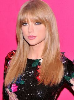 50 Super Ideas For Hair Cuts Ideas With Bangs Taylor Swift Holiday Hairstyles, Latest Hairstyles, Celebrity Hairstyles, Hairstyles With Bangs, Straight Hairstyles, Cool Hairstyles, Romantic Hairstyles, Hairstyles 2016, Updo Hairstyle