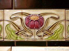 Tiles, Art Nouveau
