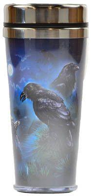 #pagan #wicca #witchcraft #celtic #druid #tarot Ravens travel mug $14.95
