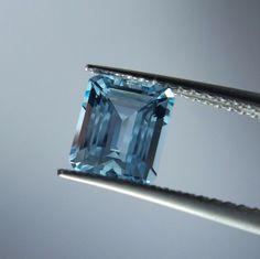 1.2 Carat Natural Untreated Aquamarine 6.8x5.9 mm Octagon Shape Cut Stone   #AquamarineTraders