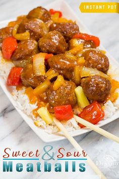 and Sour Meatballs, 5 minute Instant Pot Recipe. Sweet and Sour Meatballs, 5 minute Instant Pot Recipe. Easy Family Meals, Easy Meals, Instant Pot, Sweet And Sour Recipes, Frozen Meatball Recipes, Sour Foods, Sweet And Sour Meatballs, Pressure Cooker Recipes, Pressure Cooker Meatballs