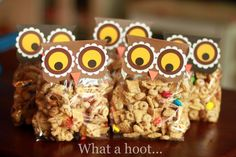 owl treat bags.