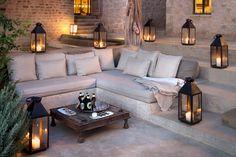 Crush Cul de Sac — ❖ Kenya's most beautiful safari lodge Terrace Design, Villa Design, House Design, Outdoor Spaces, Outdoor Living, Outdoor Decor, Beautiful Interiors, Beautiful Homes, Concrete Bench
