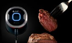Dad can use this thermometer to alert his iPhone when the meat is perfectly cooked.  Perfect for a Father's Day cookout!