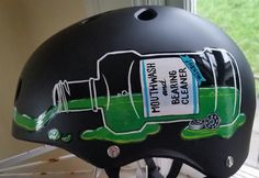 Custom painted roller derby helmet: HalleyTosis, Rose City