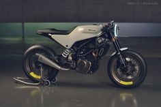 The Husqvarna 401 Vit Pilen 'White Arrow' motorcycle concept.