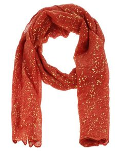If you love striking colours then the Foil Print Scarf by Lily