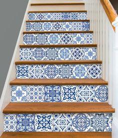 Stair Riser Vinyl Strips Removable Sticker Peel & Stick Set of
