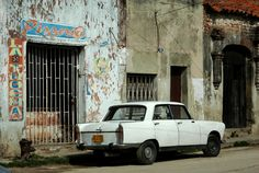 An old Peugeot 404 in the Cuban streets.