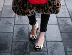 Leopard Print Faux Fur Coat Styled with Gucci Marmont Belt Dupe & Pearl Pumps Kylie Cosmetics Birthday Edition, High Heel Protectors, Gucci Marmont Belt, Kylie Jenner Lips, Pearl Shoes, Leopard Print Coat, Shoes Too Big, Valentino Shoes, How To Make Shoes