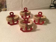 Nautical Anchor napkin rings. Set of 4 napkin by Giftsbyapril