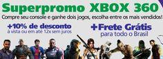 Superpromo XBOX 360 - Compre seu Console e ganhe dois jogos, escolha entre os mais vendidos! Frete Grátis para todo o Brasil!