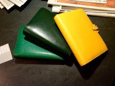 green windsor personal filofax, green piccadilly personal filofax, yellow piccadilly personal filofax