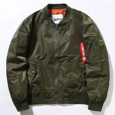 High Quality Thin Style Army Green Military Ma-1 Flight Jacket Pilot