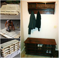If you love easy DIY's you won't be able to wait to make this fantastic Pallet Entry Bench.  Get the Tutorial now.