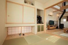 和室は吊り押入れ&地窓を採用したことで目線が抜けて4.5畳よりも広く感じられる