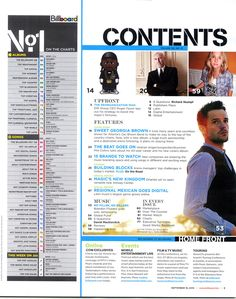 Image result for billboard magazine contents page Magazine Contents, Billboard Magazine, Content Page, Music Magazines, Magic Kingdom, Pop Music, Album, Songs, This Or That Questions