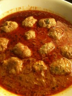 Kashmiri Kofta (Mince meat balls curry, recipe from Kashmir, India)  For more, follow https://twitter.com/amitmehra