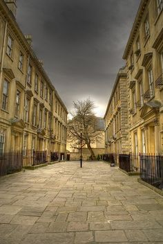 Bath, England. If I ever went there, I would feel like I was in Northanger Abbey.