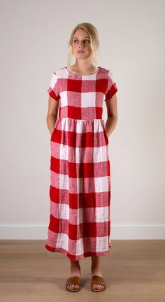pyne-and-smith-red-and-white-check-linen-short-sleeve-midi-length-dress-2.jpg
