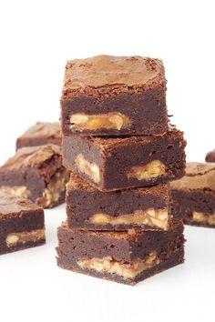 Snickers Chocolate Brownies aka the best brownies ever!