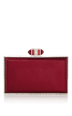Red Rectangle Clutch by Judith Leiber Couture | Moda Operandi